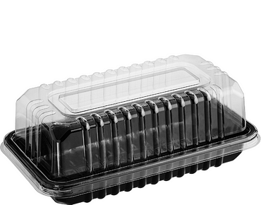 Bar Cake Dome Plastic Container
