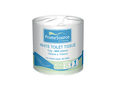 Washroom Toilet Paper Roll Tissues, 1-Ply