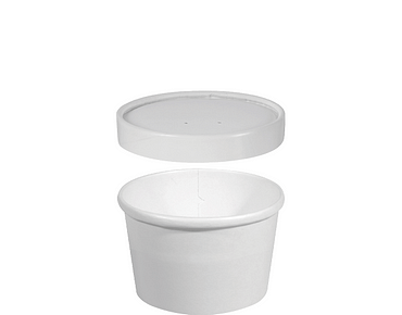 Hot or Cold Food Paper Container + Vented Lid (Small, Combo-Pak®)