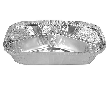Rectangle Takeaway Foil Containers (Large 3 Compartment)