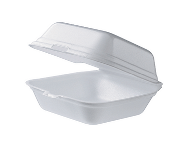 Foam Burger Box (Large) | Clamshell Packaging Containers