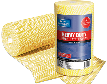 Heavy Duty Reusable Wipes Perforated Roll (Yellow)