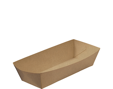 Rediserve Brown Kraft Paper Hot Dog Trays