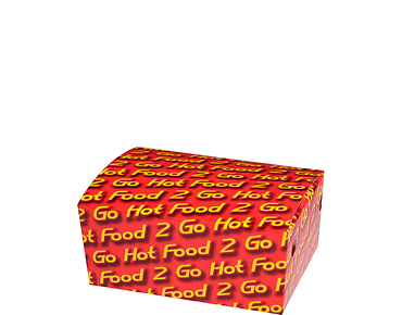 Hot food 2 Go™ Snack Boxes (Junior, Sleeved) | Takeaway Container