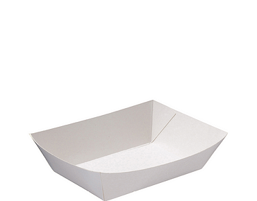 Rediserve White Paper Food Trays #2 Small