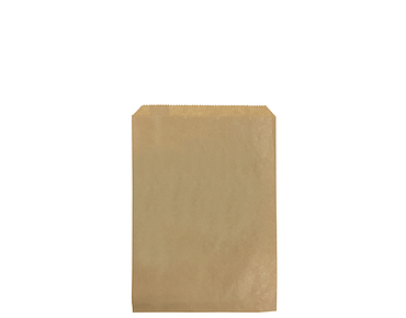 Flat Brown Paper Bags (Size #1)