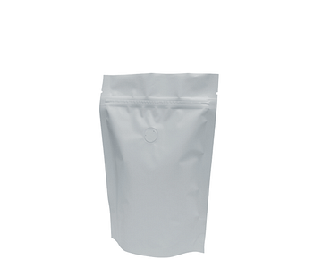 250g Stand-Up Coffee Pouch (Matte White)