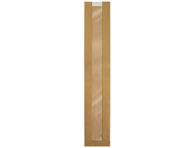 Window Paper Bags, French Stick | Brown Kraft