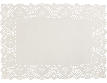 Rectangle Lace Doyleys Placemats (10x14 inches)