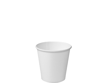 Single Wall Paper Takeaway Coffee Cups (White 4oz)