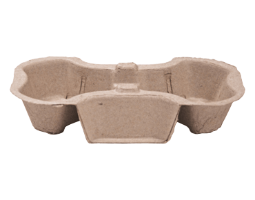 Enviroboard® 2-Cup Coffee Carry Tray