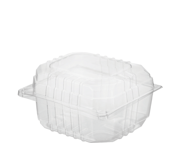 Clearview® Plastic Containers with Hinged Lid (Small Burger)