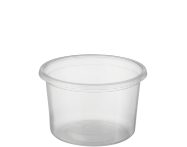 Reveal® Clear Round   Portion Control Plastic Containers (Small)