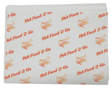 Hot Food 2 Go™ Greaseproof Paper Sheets, Liners, Deli Wraps