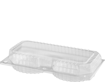Bakery Plastic Storage Containers with Lid (Double Custard Pack)
