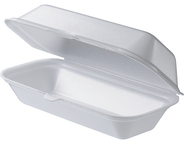 Foam Hotdog Snack Pack | Clamshell Packaging Containers