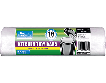 Kitchen Tidy Bags, Bin Liners (Small White Perforated Roll)
