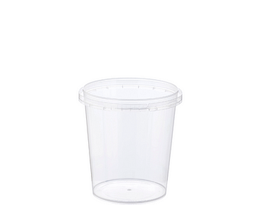 Locksafe® Small Round Tamper Evident Plastic Containers (335ml)