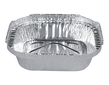 Square Sweet Foil Tray Container (Shallow 255ml)