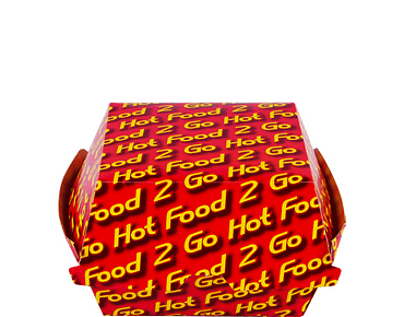 Hot Food 2 Go® Burger Clams Paper Containers (Large)