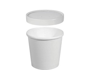 Hot or Cold Food Paper Container + Vented Lid (Medium, Combo-Pak®)