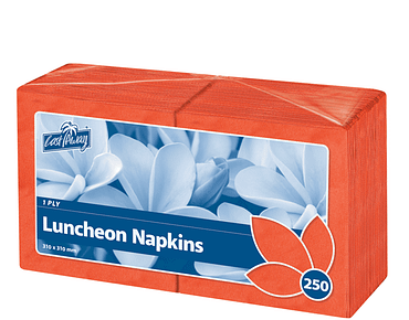 Premium 1-Ply Luncheon Paper Serviettes (Quarter Fold Red)