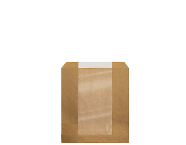 Paper Window Bags, Single-Serve | Brown Kraft