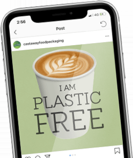 I am Plastic Free on mobile phone