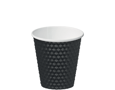 Black 8oz Dimple® Paper Coffee Cups
