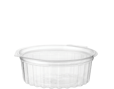 Clearview® Food Bowls with Flat Lid (227ml / 8oz)   Clear Plastic Containers  