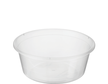 MicroReady® Round Takeaway Plastic Containers (Clear, 10oz)