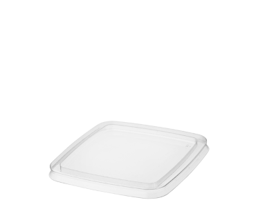 Reveal® Clear Square | Portion Control Plastic Container Lid