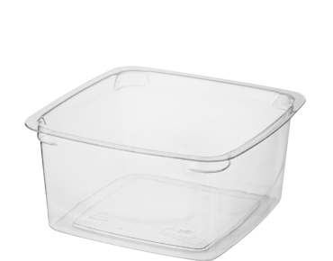 Reveal® Clear Square | Portion Control Plastic Containers (Medium)