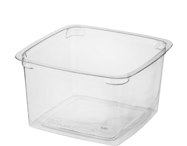 Reveal® Clear Square | Portion Control Plastic Containers (Large)